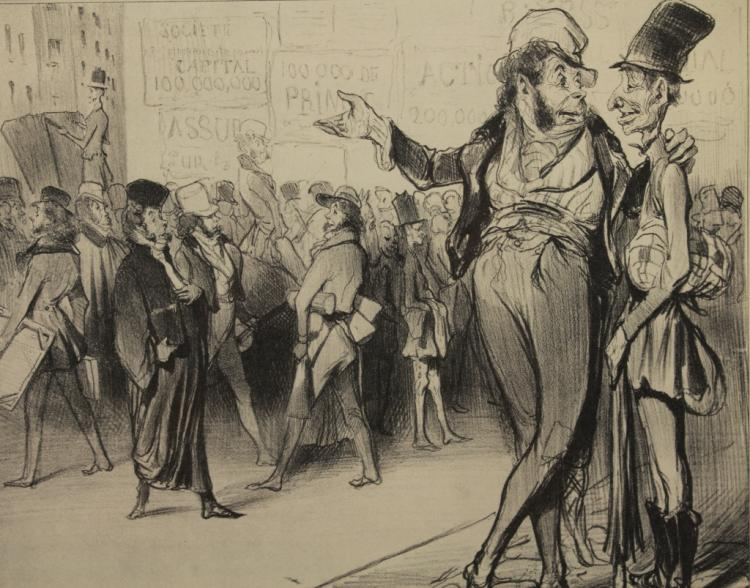 Attr. Honore Daumier (1808 - 1879) Litho