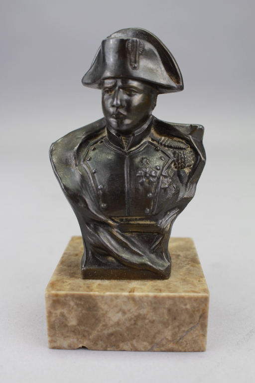 Antique Bronze Bust of Napoleon on Marble Base