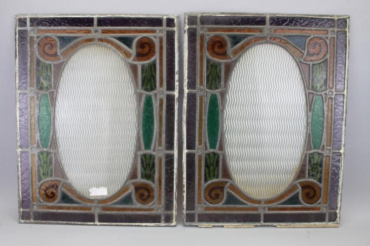 (2) European Stained Glass Windows