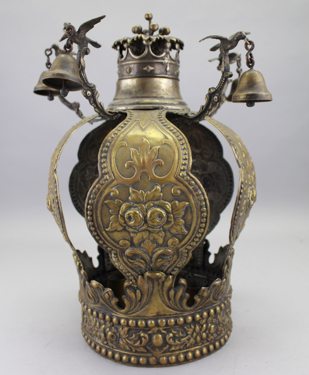 Antique European Gilt Metal Torah Crown