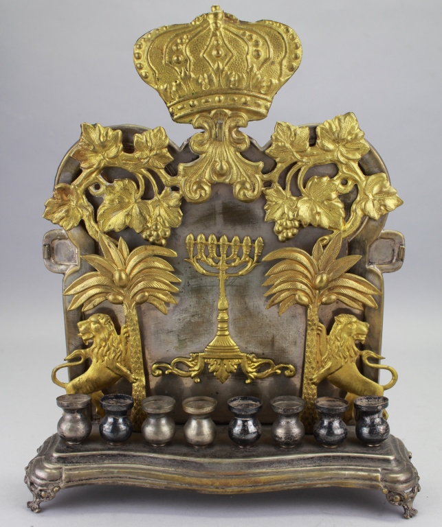Antique Polish Judaica Altar Piece