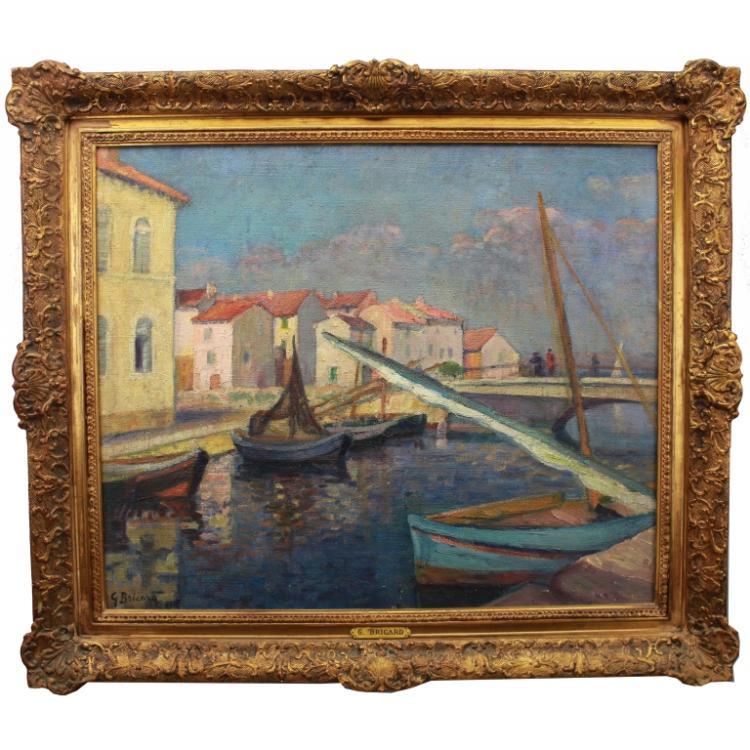G. Bricard French 20th C Pont De Breson, Martigues