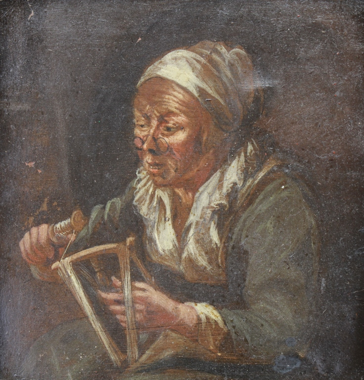 Old Master 17/18th C. Portrait of Elderly Woman