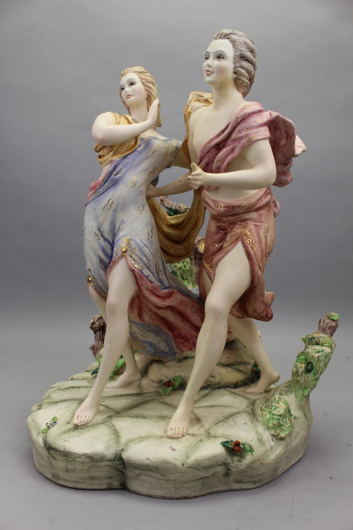 20th C. Italian Porcelain Figural Grouping