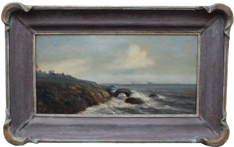 C.S. Moran Signed Early 20th C. Coastal Scene