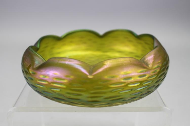 Loetz Art Glass Scalloped Bowl