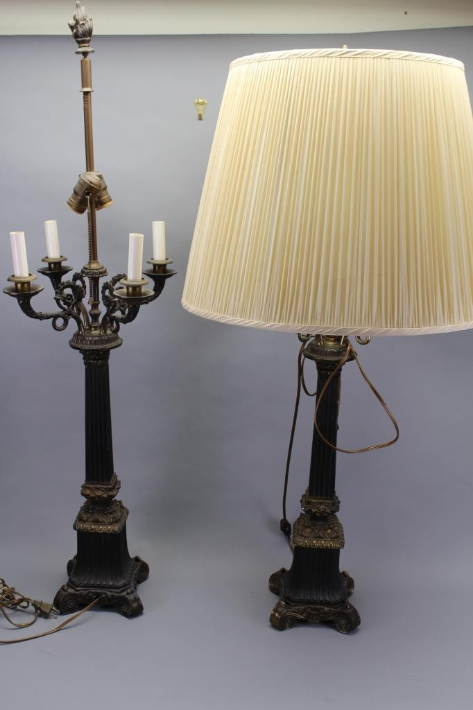 Pair Empire Style Lamps