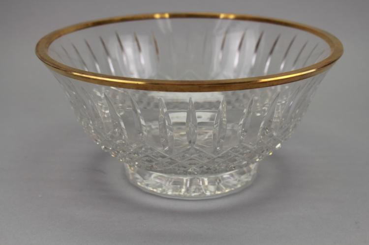 Wedgwood Glass Bowl W/ Gilt Rim