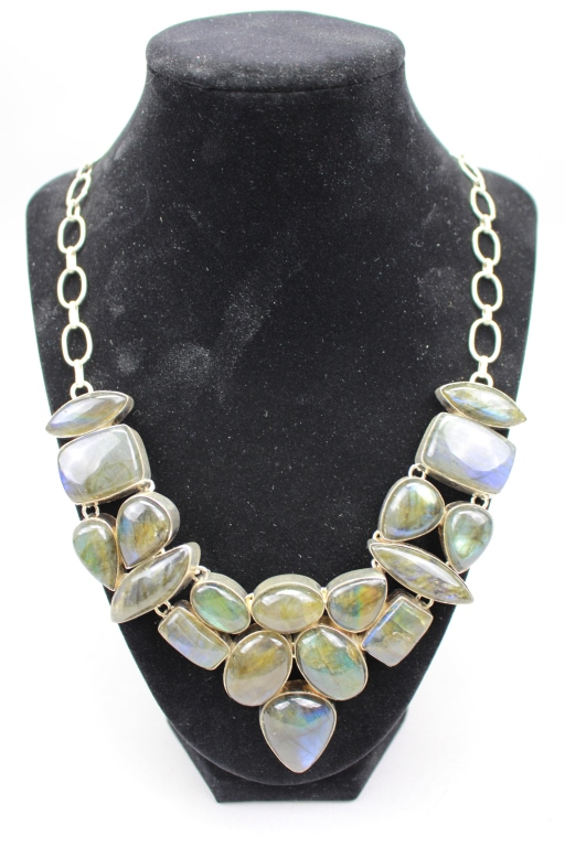 .925 Sterling Silver/Labradorite Necklace