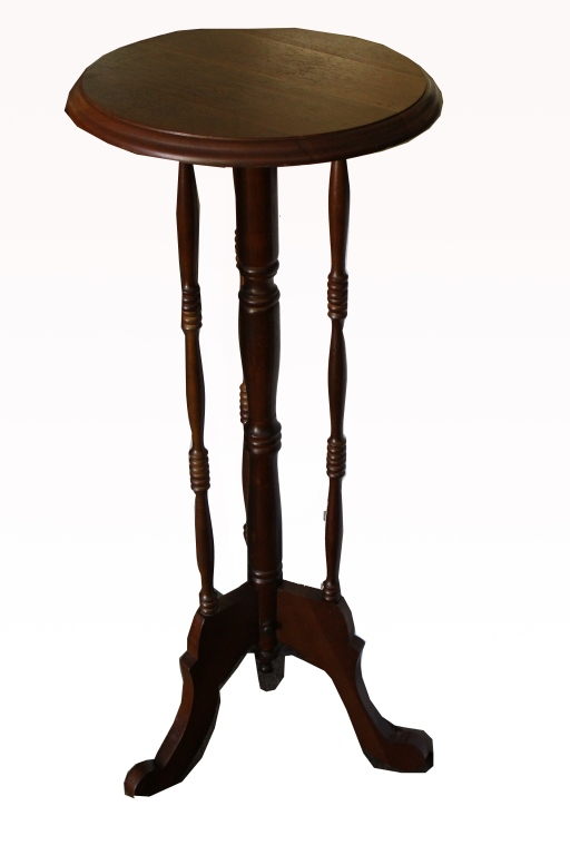 Vintage Footed Mahogany Stand