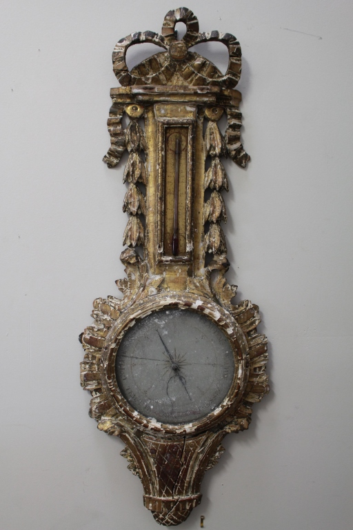 Carved 18th C. Italian Barometer