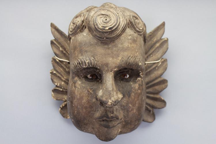Antique Carved Italian Cherub Bust
