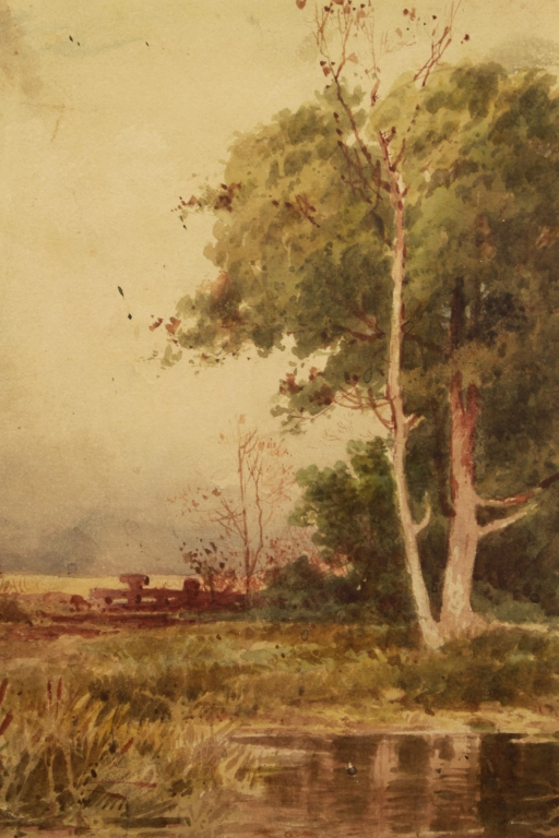 19th C. American School Hudson River Landscape