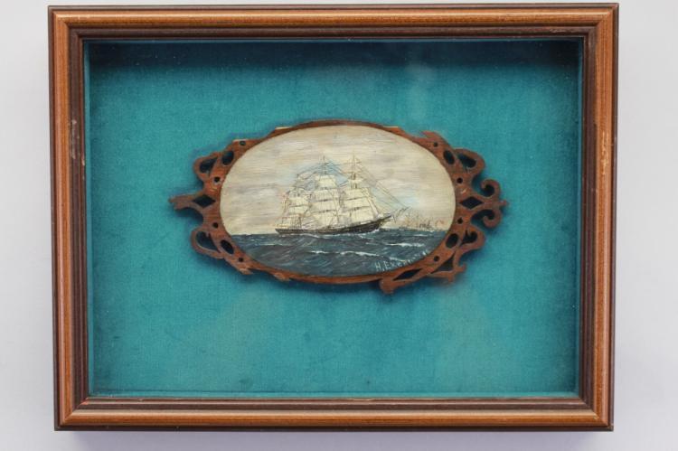 American School, Clipper Ships Oil/Board