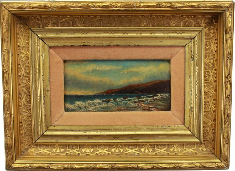 American School O/B California Coastal Scene