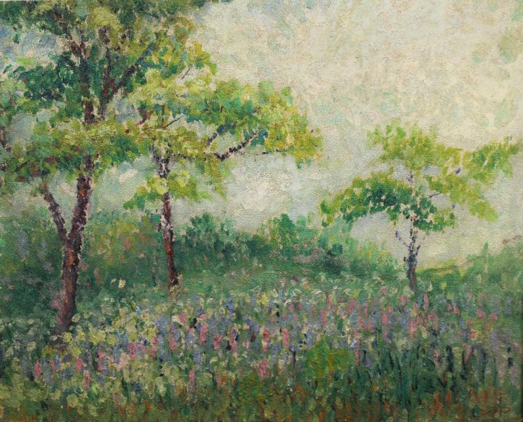 20th C. American Impressionist Landscape