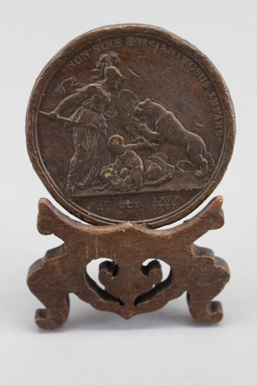 Antique American Coin on Stand