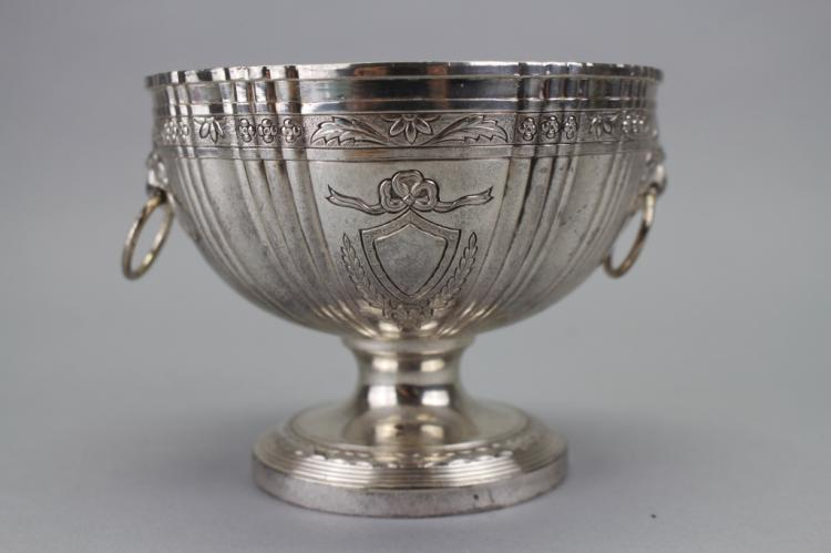 Silverplate Cup with Lion Head Mounts