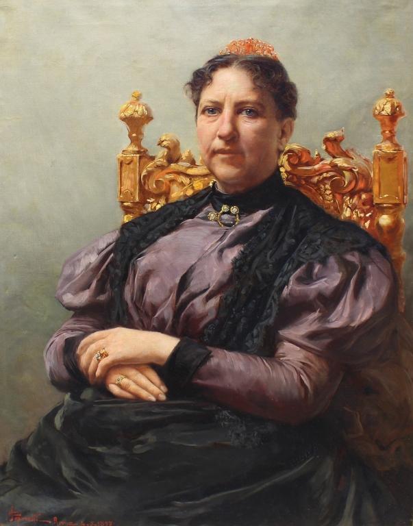 Edgardo Saporetti(1865 - 1909) Margherita of Savoy