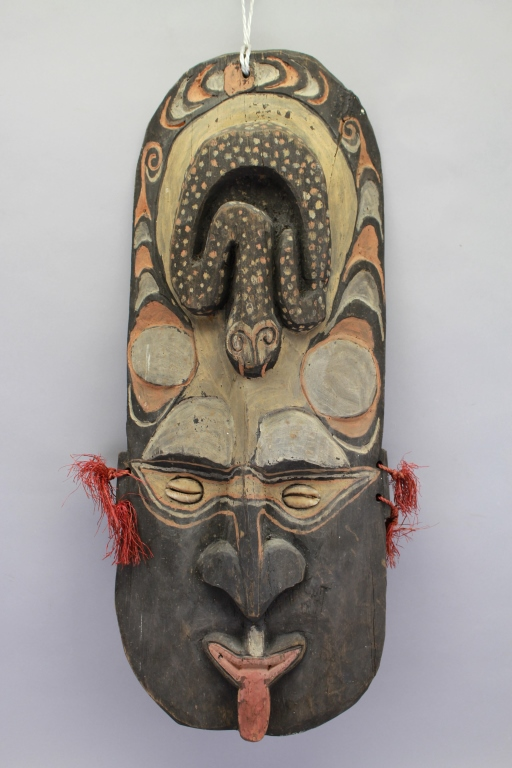 Antique Oceanic Polychromed Tribal Mask