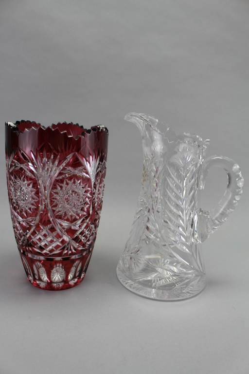 (2) Misc. Cut Glass Pieces
