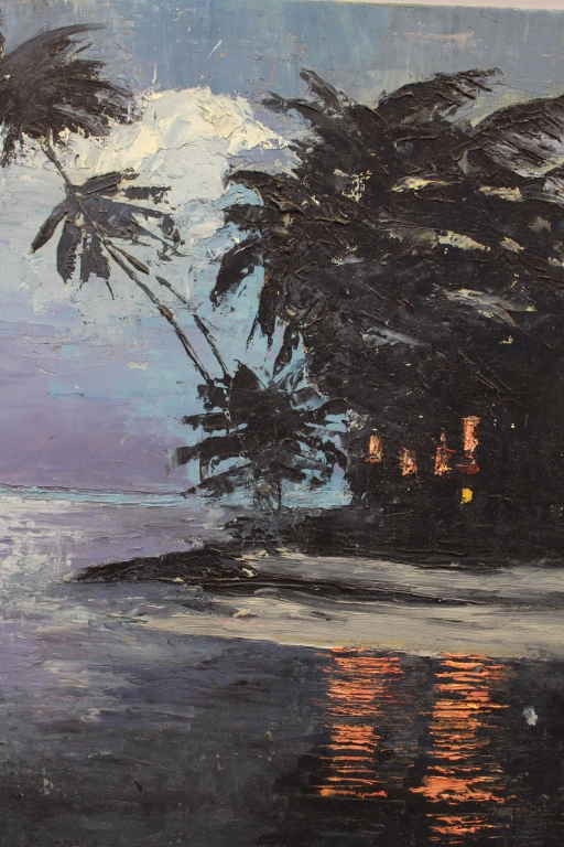 20th C. Florida Luminous Coastal Scene