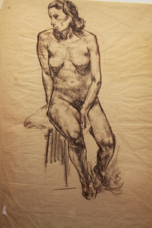 Double Sided Charcoal Nude Study