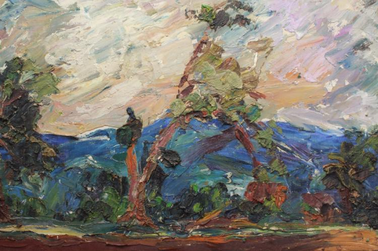 European School 20th C. Expressionist Landscape