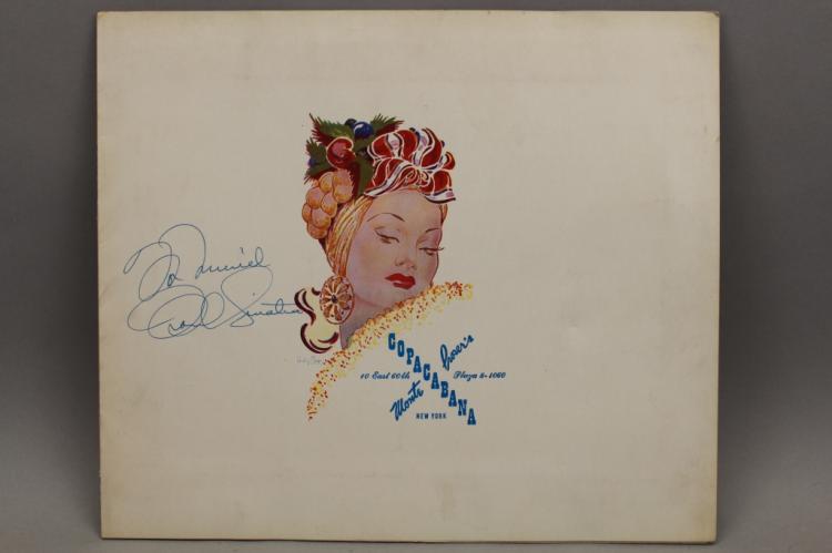 Frank Sinatra Autographed Copacabana Cover