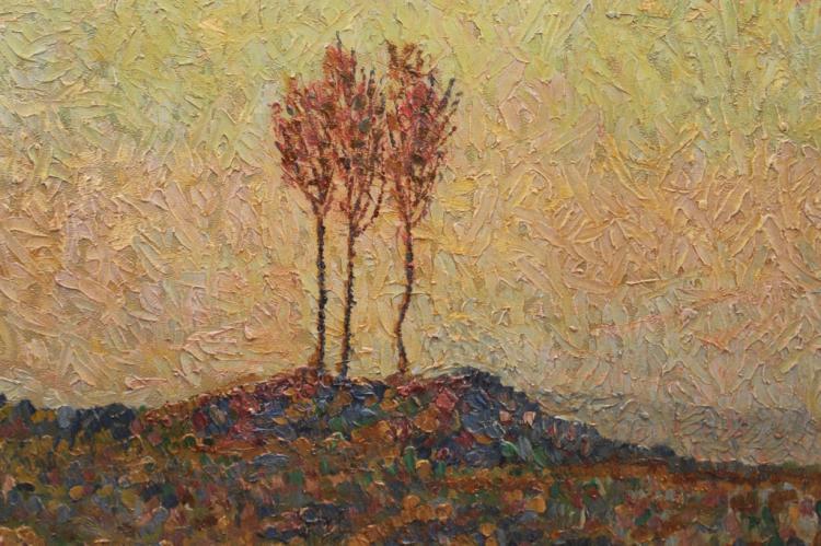 20th C. American School Pointillist Scene