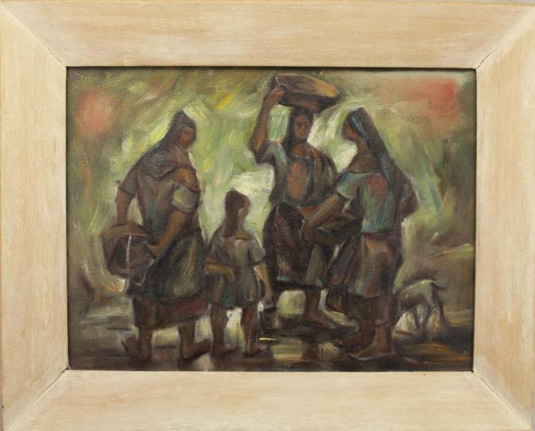 20th C. South American School Figural Painting