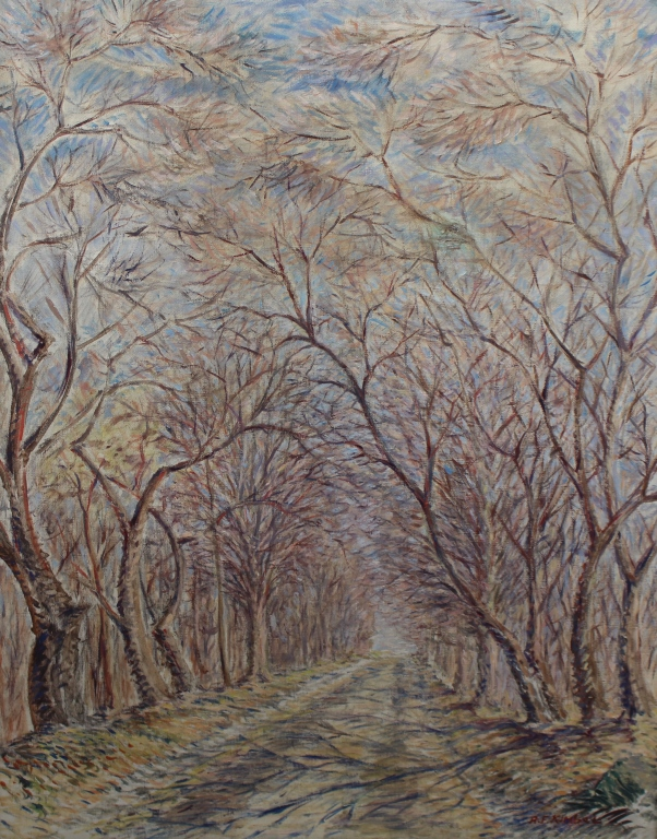 Anthony F. Kimbel (20th C) Wooded Pathway