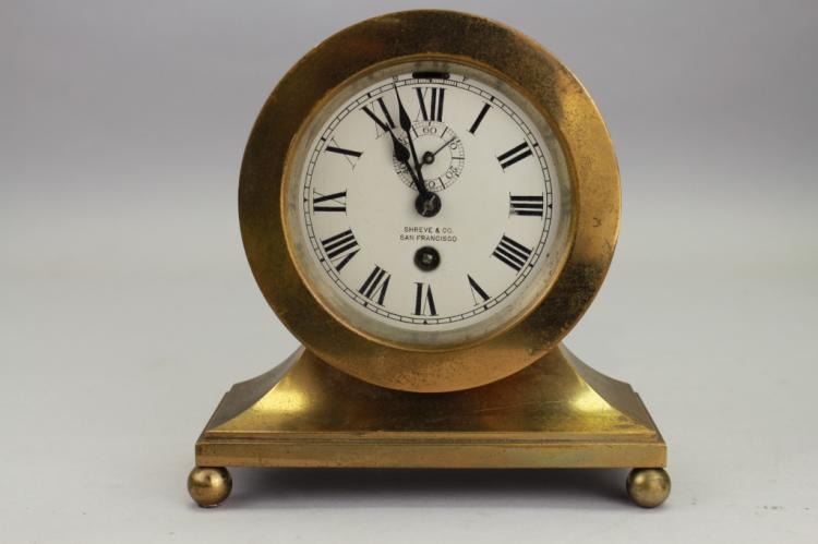 Shreve & Co. (San Francisco) Bronze Desk Clock