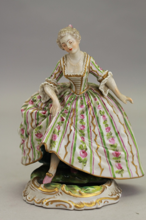Antique French Sevres Porcelain Maiden