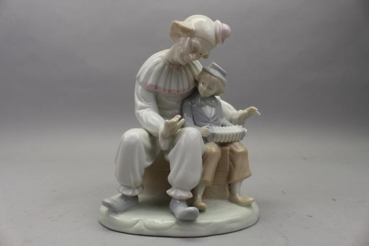 German Goebel Porcelain Clown and Child