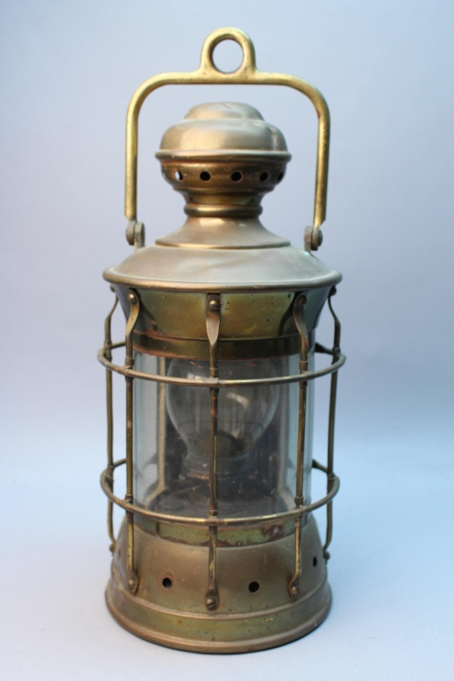 Antique Brass Nautical Ship Lantern