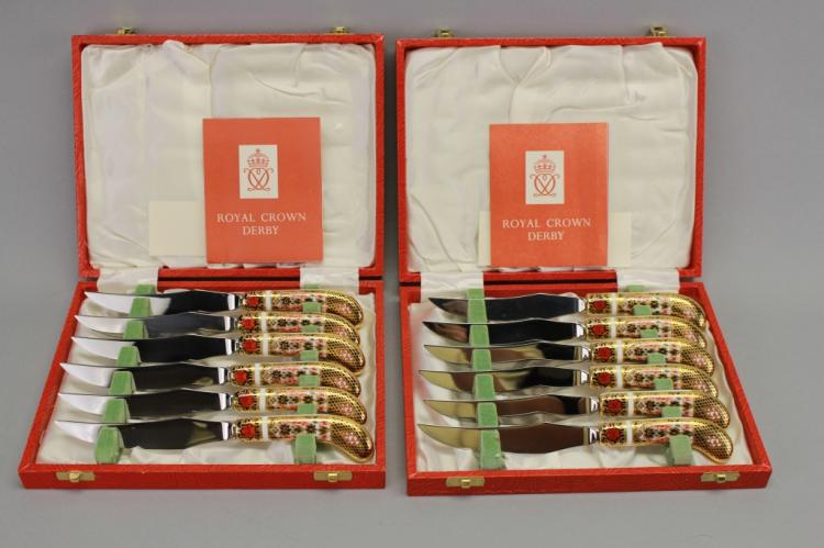 (12) Royal Crown Derby knives