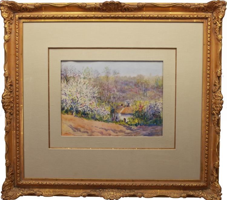 Louis Labro-Font  (1881 - 1952) Watercolor