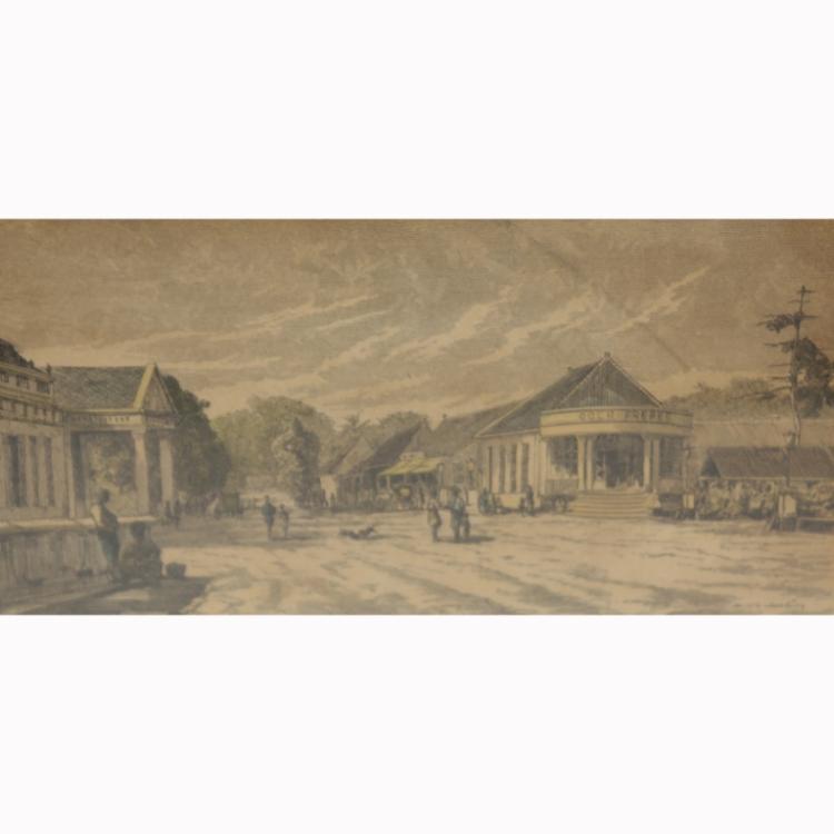 Jakarta Engraving by H.F. Van Den Broek