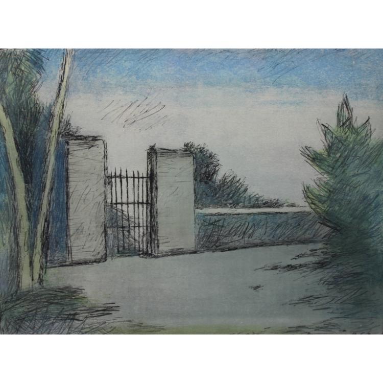 Carlo Carra  (1881 - 1966) 1964 Lithograph