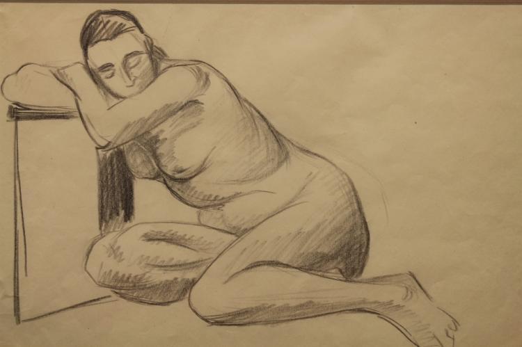 Attr. Albert Marquet (1875 - 1947) Reclining Nude