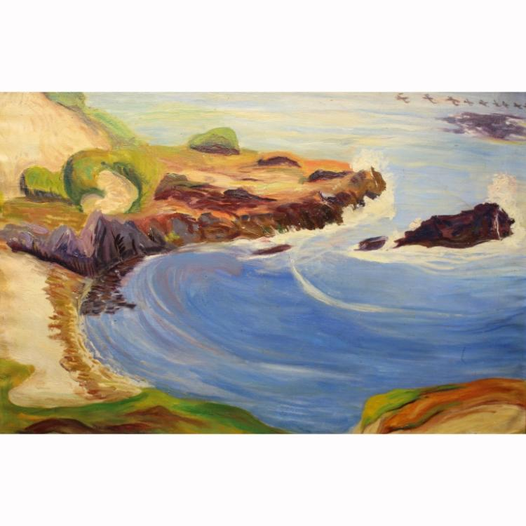 20th C. American Pacific Coastal Scene