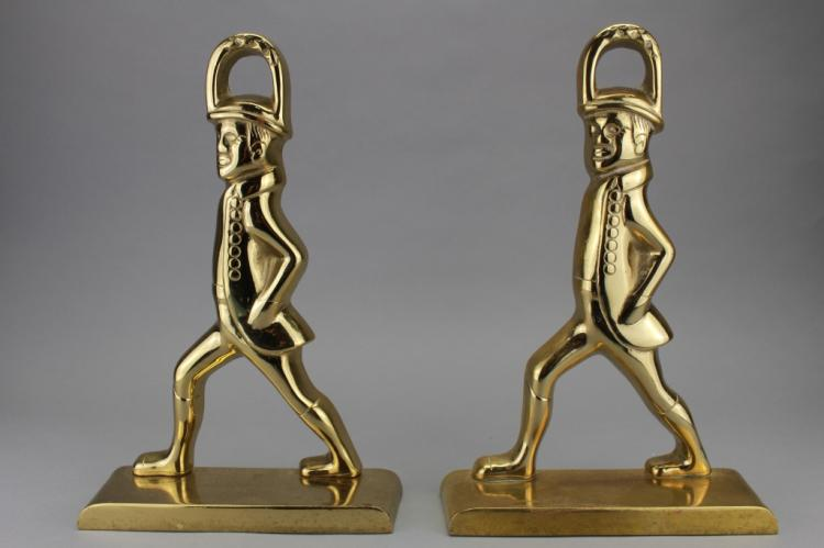 Set of Metal Male Figure Bookends