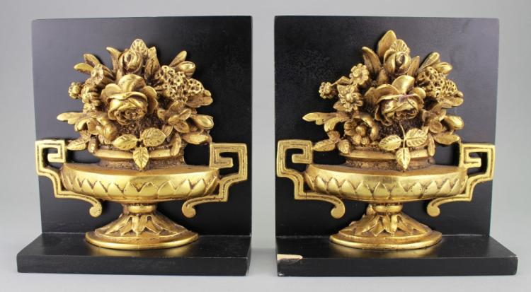 Set of Flower Urn Form Bookends