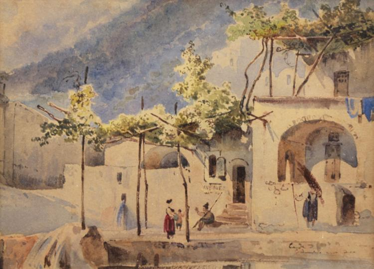 Italian 19th C. Watercolor