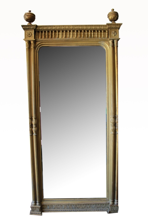 Monumental Continental Gilt Mirror