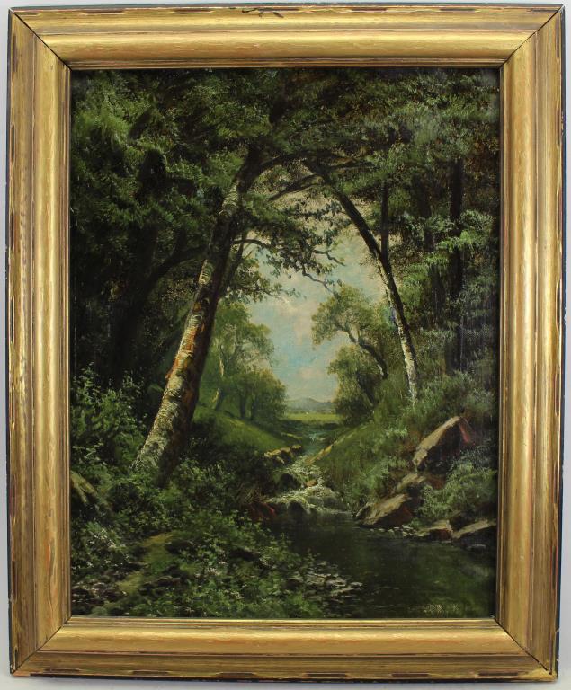 Hudson River School 19th C. Wooded Landscape