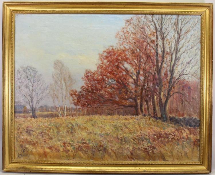 Edward Brooks, 1920's Painting of Woodstock VT