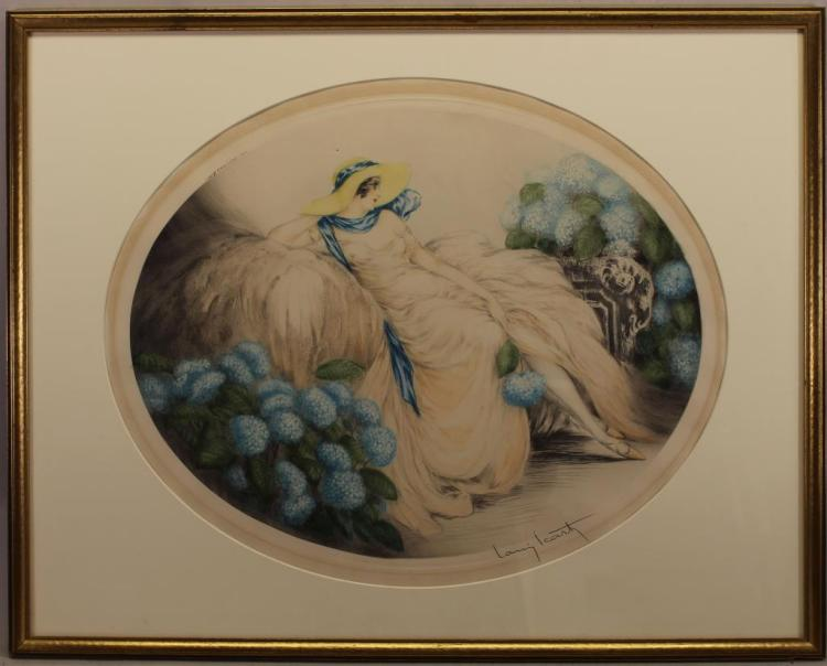 Louis Icart (1888 - 1950) Colored Drypoint
