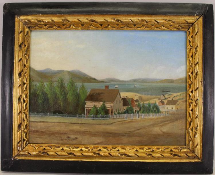 Rare 1850's View of San Francisco Bay